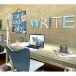 A Second Life writer's nook