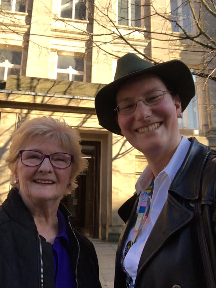 Cllr Wild and Cllr Kirk-Robinson outside Bolton Town Hall