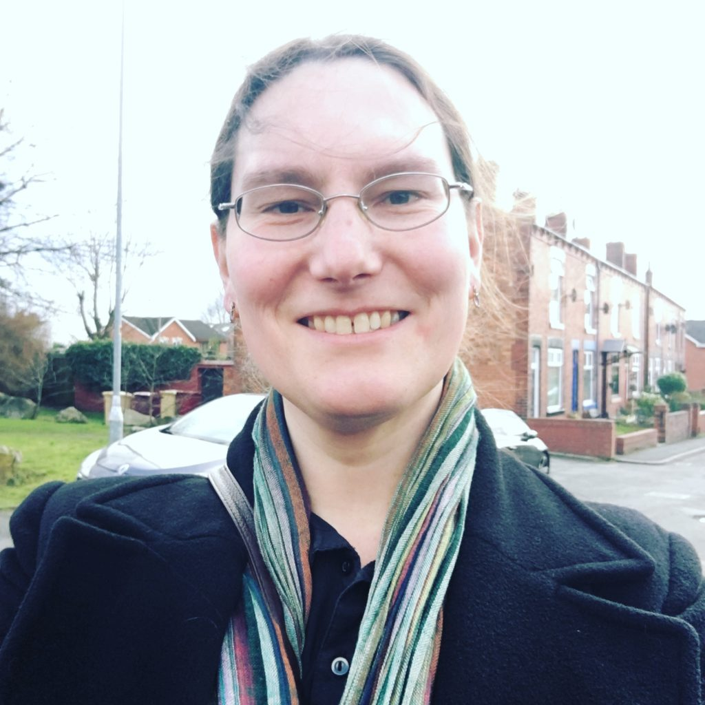 Councillor Zoë Kirk-Robinson at Howarth Street, Westhoughton.